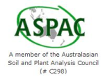 Member of Austalasian Soil and Plant Analysis Council #C298